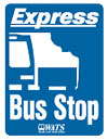 Express Bus Stop Sign