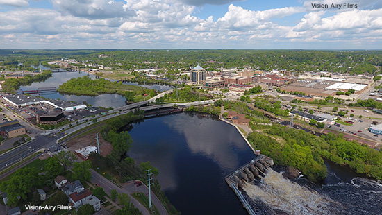 Wausau from the air