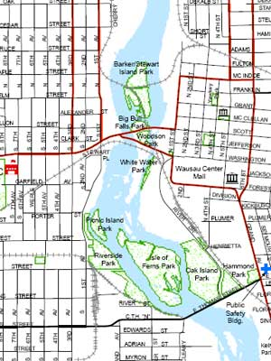 Online Mapping - City map of wisconsin